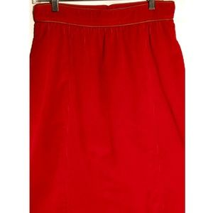 Liz Claiborne Skirts - Vintage Red Corduroy Skirt by the Villager
